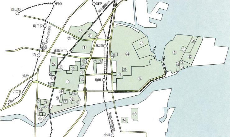 第1コンビナート地区配置図