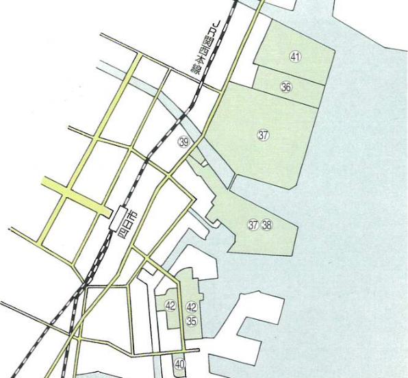 第2コンビナート地区配置図